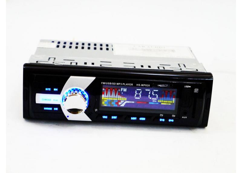Автомагнитола HS-MP820 c FM-тюнером МР3 и WMA стандартная 1 дин магнитола