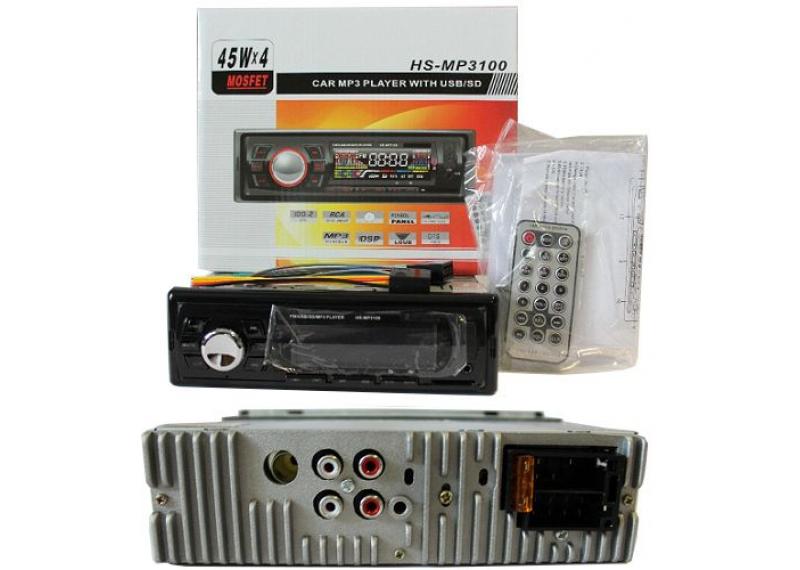 Автомагнитола Mp3 HS-MP3100 c FM-тюнером МР3 и WMA магнитола стандартная 1 дин