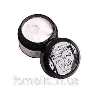 Арт-гель БЕЗ липкого слоя Komilfo No Wipe Art Gel White 002 (белый), 5 мл