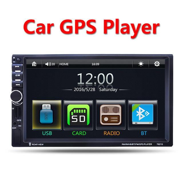 "Автомагнитола 2Din Pioneer 7021G 7"" Экран, GPS, Bluetooth, Читает ВИДЕО+ Пульт+Шахта"