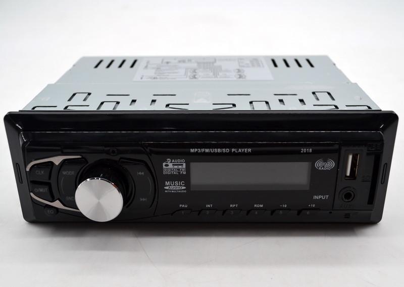 Автомагнитола  2018 MP3+FM+USB+SD+AUX магнитола  несъемная панель