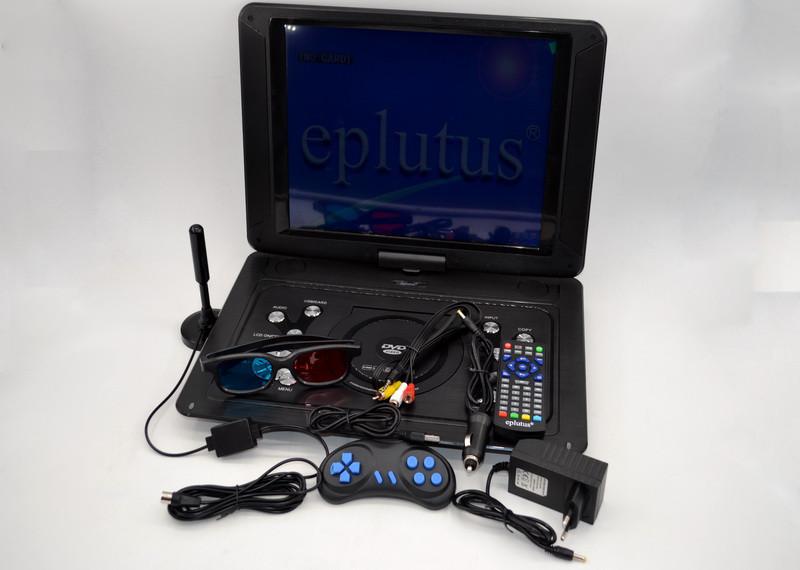 Переносной телевизор Eplutus EP-1403T Портативный DVD плеер с цифровым тюнером Т2(15 дюймов)