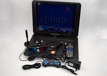 Переносний телевізор Eplutus EP-1403T Портативний DVD плеєр з цифровим тюнером Т2(15 дюймів)