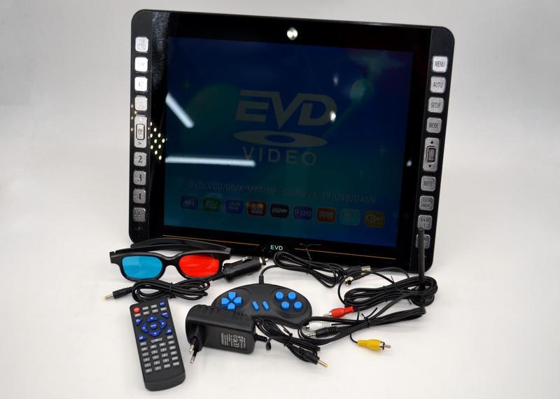 Автомобильный телевизор с Т2 DVD-LS155T Портативный DVD плеер с цифровым тюнером (18 дюймов)