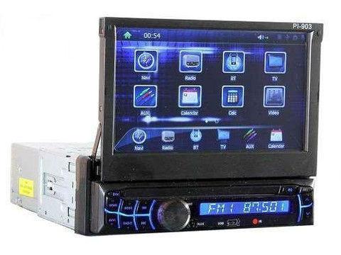 1din Магнитола  PI-903 GPS+TV  с навигационной системой GPS с программным обеспечением IGO 8, выдвижным