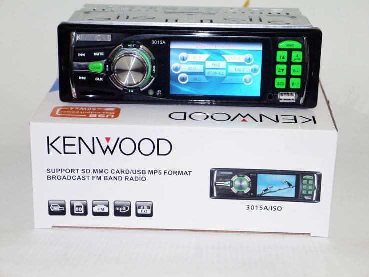 Видеомагнитола Kenwood 3015А + пульт 1DIN, стандартный размер USB, SD, FM атвомагнитола мп5
