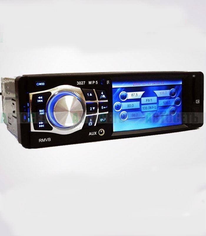 "Pioneer 3027 автомагнитола пионер 3,6"" TFT Video экран Divx/mp4/mp3 - USB флешка+ SD карта памяти(4x50W)"