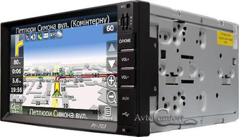 Автомагнитола  PI-703 2Din GPS навигатор, FM-тюнер, ТВ-тюнер