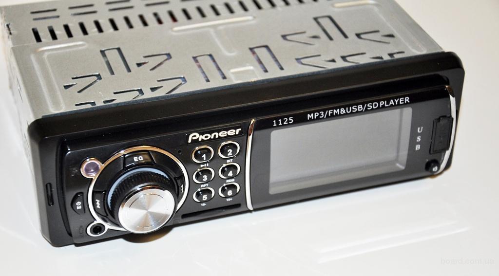 АвтомагнитолаPioneer 1125 1 дин USB флешки + SD карты памяти + AUX + FM (4x50W)с экраном