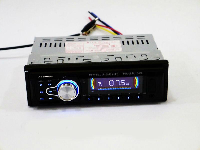 Автомагнітола незнімна панель Pioneer 2038 USB, AUX SD