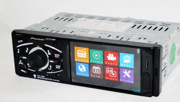 Автомагнитола MP5 Pioneer 4011 CRB экран 4.1 usb сенсорный магнитола с видео