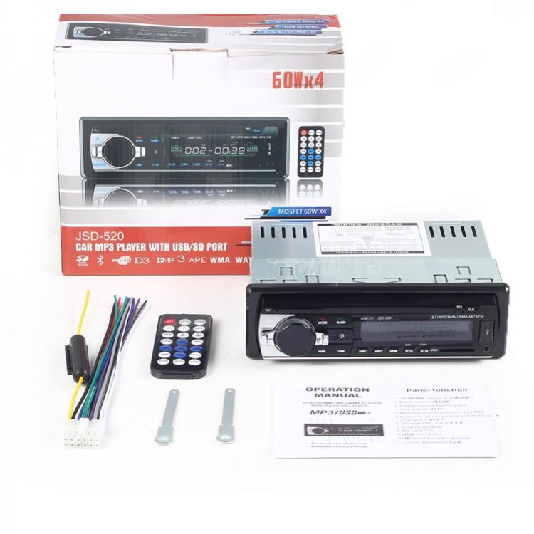Автомобильная Pioneer jsd 520 Bluetooth+USB+SD+AUX 4x60W магнитола