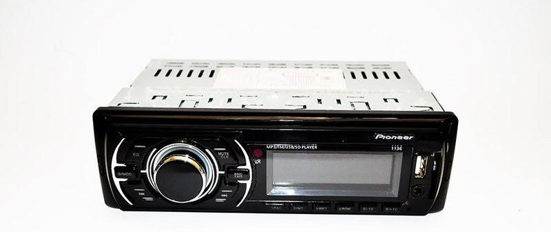 Автомагнітола Pioneer 1136 магнітола Піонер в автомобіль Usb+Sd+Fm+Aux+пульт