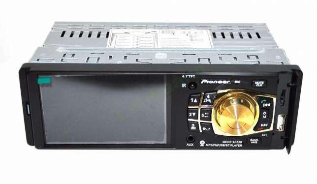 """Автомагнитола Pioneer 4032B Bluetoth - 4,1"""" TFT USB + SD + AUX - DIVX/MP4/MP3 магнитола (панель несъемная)"""