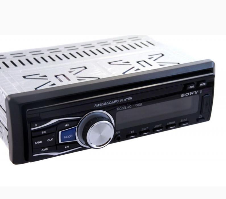 Автомагнитола Sony 1083B USB+SD+съемная панель (4x50W) магнитола стильная популярная 1 дин