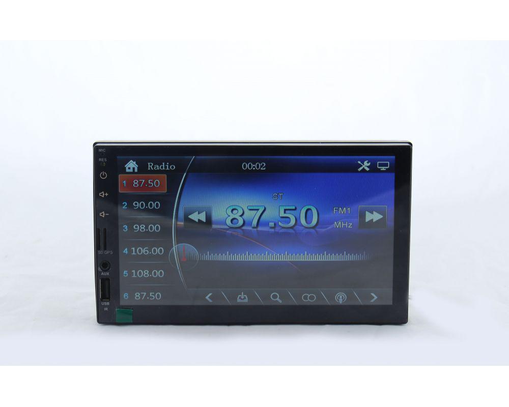 "Автомагнитола 2Din MP5 7023  Экран 7""  USB SD MMC Bluetooth  AUX  GPS"