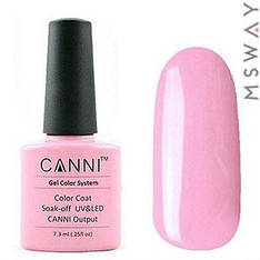 CANNI Гель-лак для ногтей 7.3ml Тон 73 насыщенный светло розовый