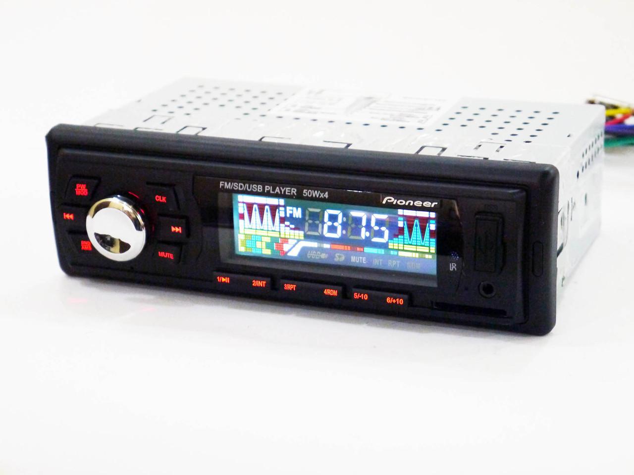 Автомагнитола универсальная многофункциональная Pioneer 6249 FM-тюнер с автосканированием