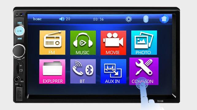 """Магнитола 2 дин  7010B автомагнитола с Экраном 7"""" дюймов сенсор + USB, SD, FM, Bluetooth+КАМЕРА!"""