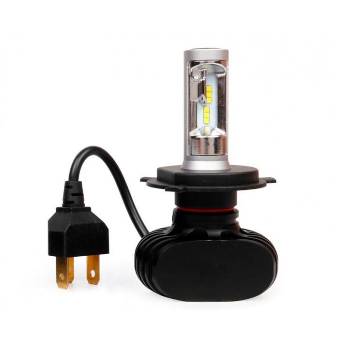 LED лампы Xenon S1 (без радиатора) H4 Ксенон цветовая температура 6000K набор ксенона 2 шт