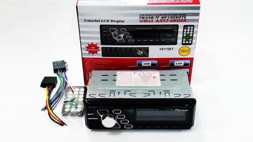 Автомагнитола Pioneer 1011BT Bluetooth ISO RGB подсветка Высокое качество популярная магнитола