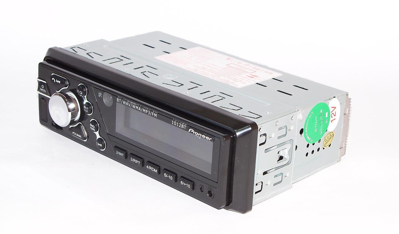 Магнитола в машину автомагнитола бюжетная несьъмная панель Пионер Pioneer 1012 Bluetooth ISO RGB
