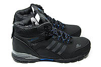 Мужские зимние ботинки на меху в стиле Adidas Climaproof, черные. Код товара ДП - 3-030