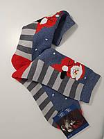 """Новогодние носки мужские , зимние, махровые внутри, хлопок """"Стиль люкс"""""""