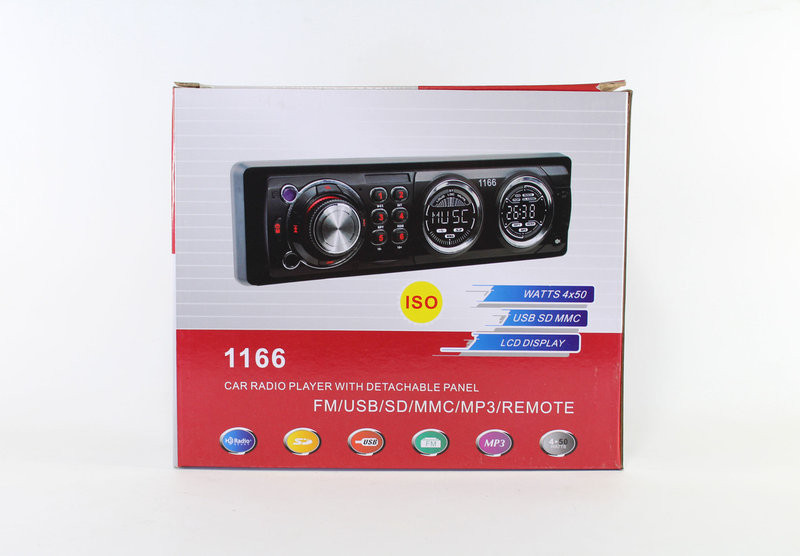 Автомагнитола MP3 1166 магнитола автомобильная съемная панель USB 2.0 порт