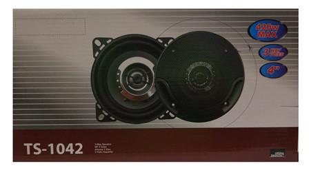 Автоакустика в машину колонки круглые TS-1042 (4'', 3-х полосная, 4200W) автомобильные динамики