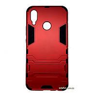Бронированный противоударный чехол Stand для Huawei P Smart Plus / Nova 3i Dante Red