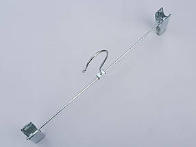 Плечики вешалки тремпеля для брюк и юбок хромированные металл, длина 35 см, фото 3
