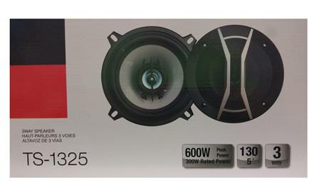 Автомобильные колонки Авто акустика TS-1325 5'', 3-х полосные мощность 600W круглые 13 см