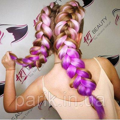 Канекалон омбре для причёсок, для кос брейд