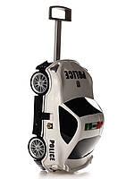 Чемодан на колёсах машинка Toyota  86 Police белый, «Ridaz» (91005W-Police)