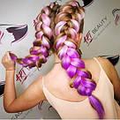 Канекалон розовый фиолет омбре для причёсок, для кос брейд, фото 3