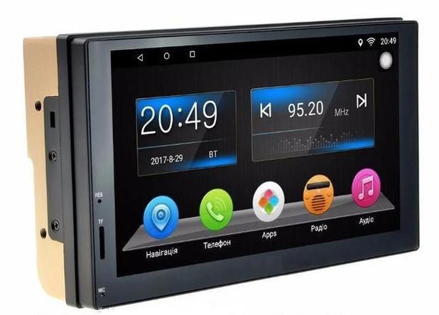 2 Din магнитола мультимедийная автомобильная GPS, WiFi, Bt Android 5+NAVITEL Pioneer 7037 с камерой