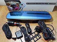 """Автомобильный видеорегистратор зеркало D25  5"""" сенсор, 2 камеры, GPS навигатор, WiFI, 8Gb, Android 4, фото 1"""