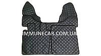 Автомобильные ковры экокожа DAF 105 автомат темно-серые Т01