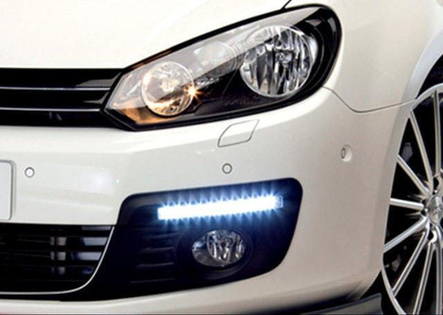 Автомобильные фары LED Ходовые огни DRL-6-Y-W комплект