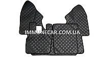 Ковры из эко-кожи DAF XF 95 МКП темно-серый в кабину Т01