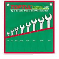 Набор рожковых ключей 8 единиц от 6 мм до 22 мм GAAA0812 TopTul
