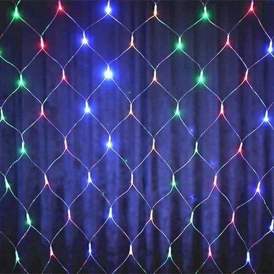 Гирлянда новогодняя 200 LED сетка 2*2m
