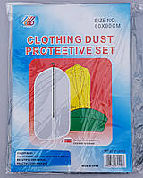 Чехол для хранения одежды полиэтиленовый серо-прозрачного цвета. Размер 60х90 cм