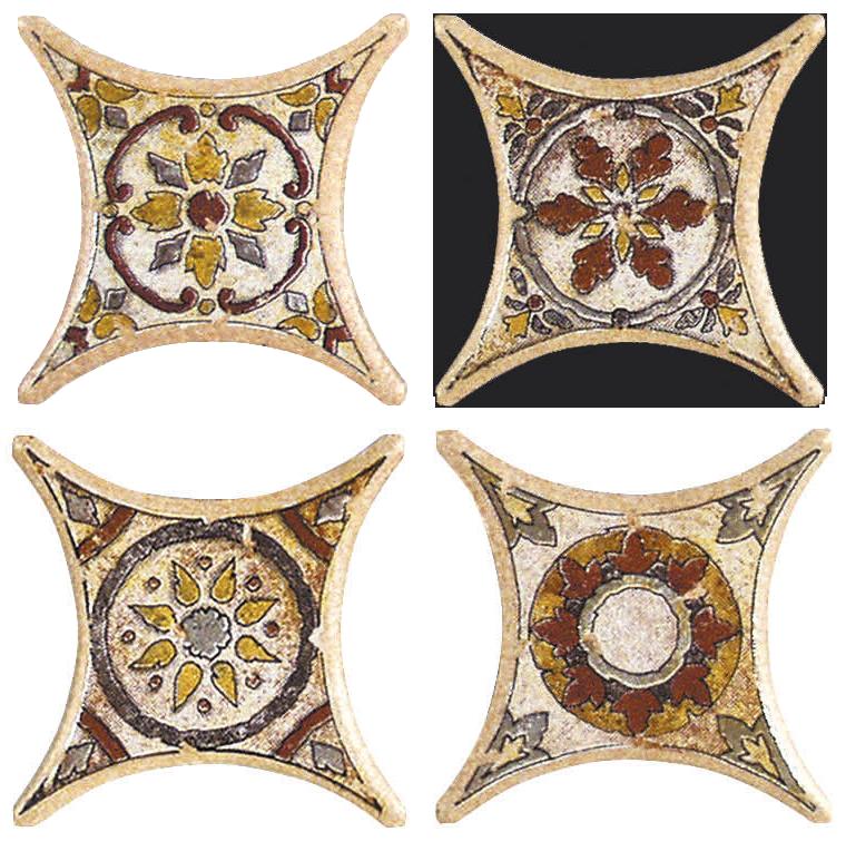Напольная плитка Azulev Octogonal Декор ESTRELLA TARANCON BEIGE арт.(35680)