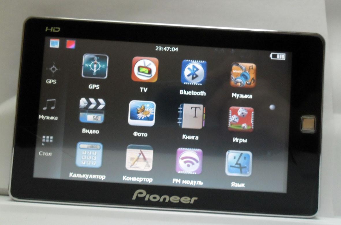 """Автомобильный GPS навигатор 7"""" Pioneer PI-717 TV IGO8, IGO PRIMO, NAVITEL мультимедийный ФМ-трансмиттер"""