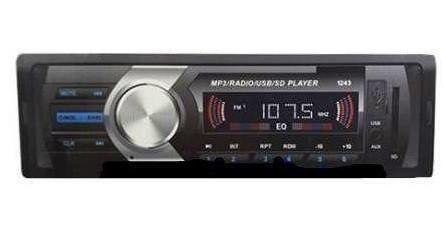 Автомобильная Магнитола радио FM приемник МР3 SP-1243 МР3 и WMA магнитола стильная
