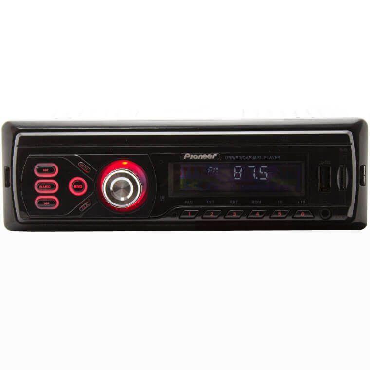 Автомагнитола универсальная Pioneer 1585 Bluetooth, USB, SD, Aux магнитола в машину 1 дин