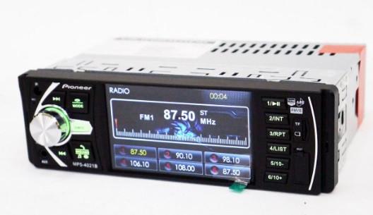 Автомагнитола Pioneer 1DIN DVD-4021 MP5+USB+Sd+MMС,Bluetooth, камера заднего вида, TV
