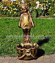 Садовая фигура подставка для цветов Саша и Маша, фото 2